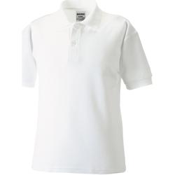 textil Pojkar Kortärmade pikétröjor Jerzees Schoolgear 539B Vit