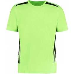 textil Herr T-shirts Gamegear KK930 Fluorescerande lime/svart