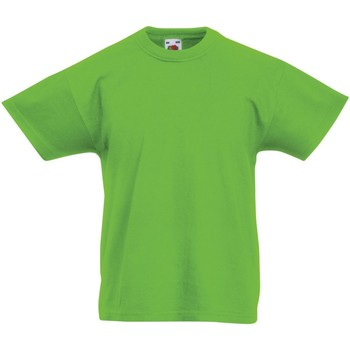 textil Barn T-shirts Fruit Of The Loom 61019 Lime