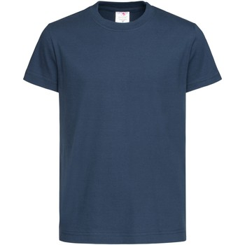 textil Barn T-shirts Stedman  Marinblått
