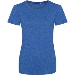textil Dam T-shirts Awdis JT30F Rymd kunglig blå/vit