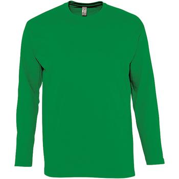 textil Herr Långärmade T-shirts Sols Monarch Kelly Green