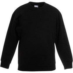 textil Barn Sweatshirts Fruit Of The Loom 62041 Svart
