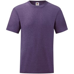 textil Herr T-shirts Fruit Of The Loom 61036 Lila ljung