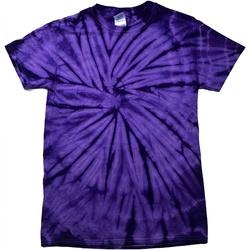 textil Barn T-shirts Colortone Spider Spindel Lila