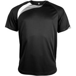 textil Herr T-shirts Kariban Proact PA436 Svart/vit/ stormgrå