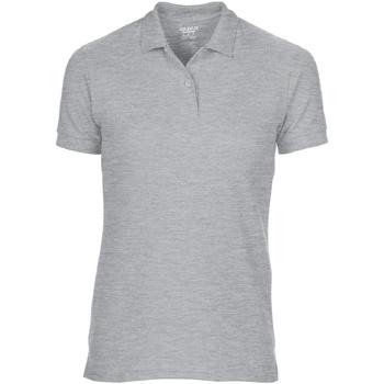 textil Dam Kortärmade pikétröjor Gildan 75800L Sport Grey (RS)