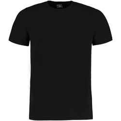 textil T-shirts Kustom Kit KK504 Svart melange