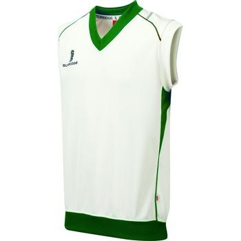 textil Pojkar Linnen / Ärmlösa T-shirts Surridge Curve Vit/grön trim
