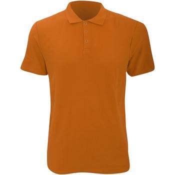 textil Herr Kortärmade pikétröjor Anvil 6280 Mandarin apelsin