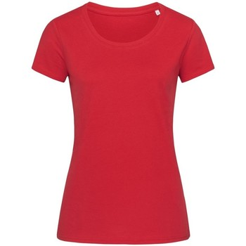 textil Dam T-shirts Stedman Stars  Peppar röd