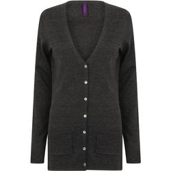 textil Dam Koftor / Cardigans / Västar Henbury Fine Knit Grå marl