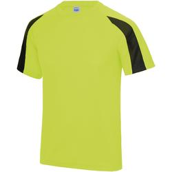 textil Herr T-shirts Just Cool JC003 Electric Yellow/Jet Black