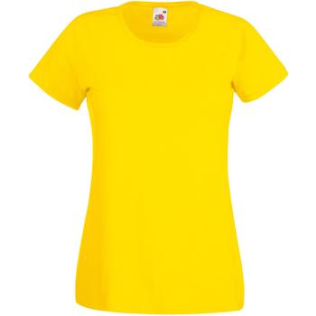 textil Dam T-shirts Universal Textiles 61372 Ljusgult