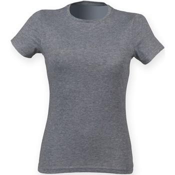 textil Dam T-shirts Skinni Fit SK161 Grå triblend
