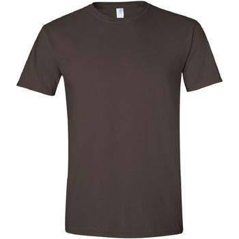 textil Herr T-shirts Gildan Soft-Style Mörk choklad