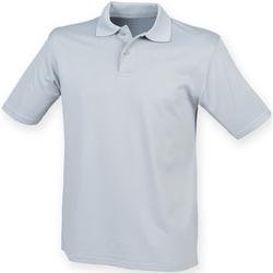 textil Herr Kortärmade pikétröjor Henbury HB475 Silvergrå