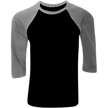 textil Herr Långärmade T-shirts Bella + Canvas CA3200 Svart/ Djupt grått