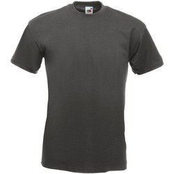 textil Herr T-shirts Fruit Of The Loom 61044 Ljus grafit