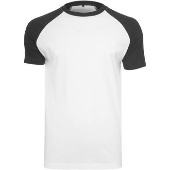 textil Herr T-shirts Build Your Brand BY007 Vit/Svart