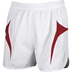 textil Herr Shorts / Bermudas Spiro S183X Vit/Röd