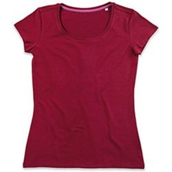 textil Dam T-shirts Stedman Stars  Bordeaux