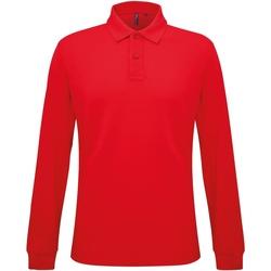 textil Herr Långärmade pikétröjor  Asquith & Fox AQ030 Klassiskt röd