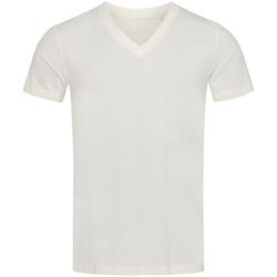 textil Herr T-shirts Stedman Stars  Vintervitt