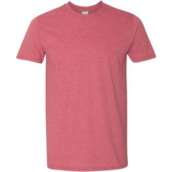 textil Herr T-shirts Gildan Soft-Style Heather Cardinal