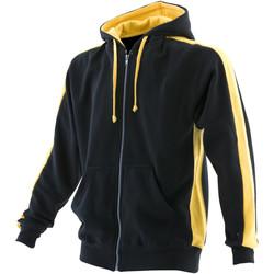 textil Herr Sweatshirts Finden & Hales LV330 SVART/GUL