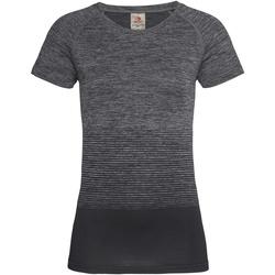 textil Dam T-shirts Stedman  Mörkgrå övergång