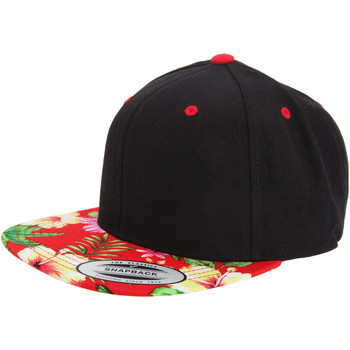 Accessoarer Keps Yupoong YP003 Svart/blommigt rött