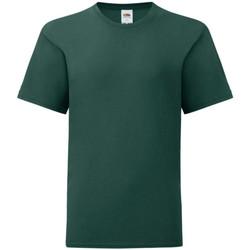 textil Pojkar T-shirts Fruit Of The Loom 61023 Skogsgrön