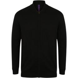 textil Koftor / Cardigans / Västar Henbury HB718 Svart