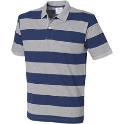 textil Herr Kortärmade pikétröjor Front Row FR210 Grått/grått/grått