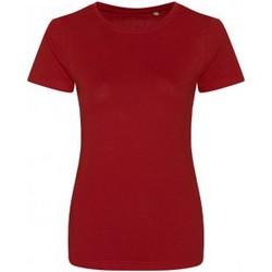 textil Dam T-shirts Ecologie EA01F Eldröd