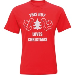 textil Herr T-shirts Christmas Shop CJ200 Röd