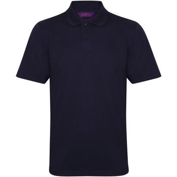 textil Herr Kortärmade pikétröjor Henbury HB475 Oxford Navy