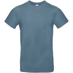 textil Herr T-shirts B And C TU03T Stenblått