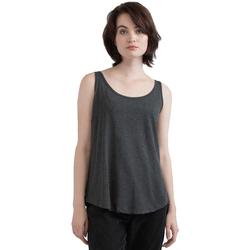 textil Dam Linnen / Ärmlösa T-shirts Mantis M92 Charcoal Grey Melange