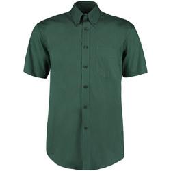 textil Herr Kortärmade skjortor Kustom Kit KK109 Flaskegrön