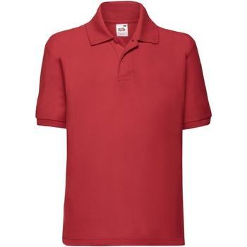 textil Pojkar Kortärmade pikétröjor Fruit Of The Loom 63417 Röd