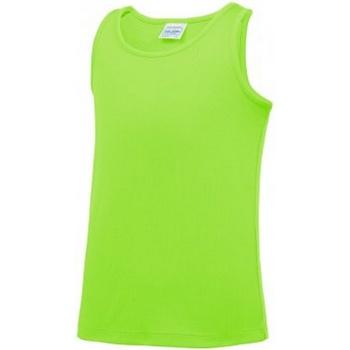 textil Barn Linnen / Ärmlösa T-shirts Awdis JC007B Elektrisk grönt