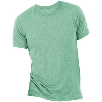textil Herr T-shirts Bella + Canvas CA3413 Havsgrön triblend