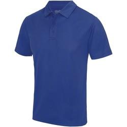 textil Herr Kortärmade pikétröjor Awdis JC040 Kunglig blå