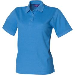 textil Dam Kortärmade pikétröjor Henbury HB401 Mellanblått