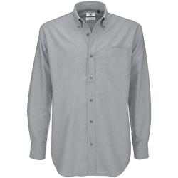 textil Herr Långärmade skjortor B And C SMO01 Silver Moon