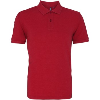 textil Herr Kortärmade pikétröjor Asquith & Fox AQ010 Röd ljung
