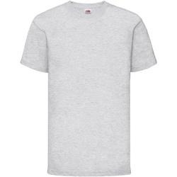 textil Barn T-shirts Fruit Of The Loom 61033 Grått