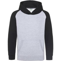 textil Barn Sweatshirts Awdis JH09J Grått grått/ svart